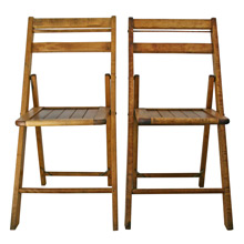 Pair of Vintage Maple Folding Chair C1940s