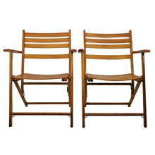 Pair of Telescope Folding Furniture Company Chairs C1955