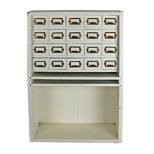 Rustic Hand-Built Desk-Top Organizer C1960