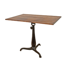 Drafting Table w/ Cast Iron Tripod Base c1910