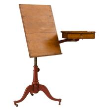 Petite Drafting Table w/ Swing-Arm Drawer c1915