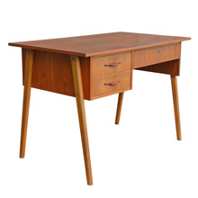 Mid-Century Teak and Maple Desk c1960