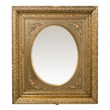 Oval Mirror w/ Rococo Gilt Frame c1880