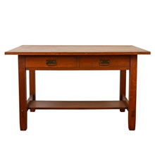Solid Oak Stickley Style Library Desk C1910