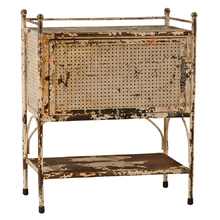 Chipped and Charming Perforated Metal Cabinet C1940s