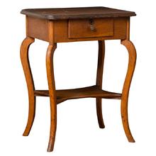 Petite Oak Side Table w/ Cabriole Legs c1850