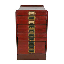 Faux Wood Grain Lawyer's Stationary Cabinet C1930