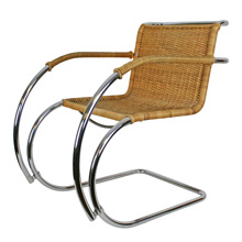 Mies van der Rohe Caned MR20 Lounge Chair C1950s
