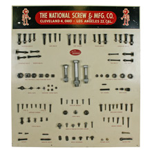 Complete National Screw & Manufacturing Co Display Board C1960