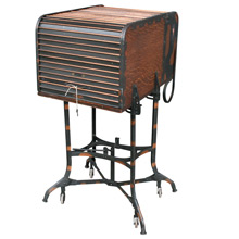 Rare Iconic Japanned Copper Toledo Roll-Top Typewriter Desk C1925