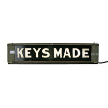 Sleek and Sophisticated Back-Lit Keys Made Sign C1940