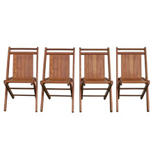 Set of Four Children's Folding Chairs, C1935