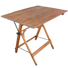 Petite Collapsable Drafting Table c1935
