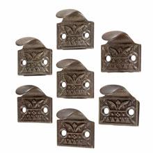 Set of 7 Cast Iron Window Finger Lifts c1885