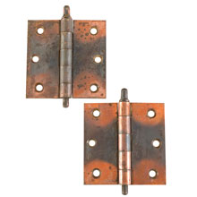 Pair of 3 1/2 In Japanned Copper Hinges c1895