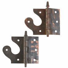 Unusual Half Mortise Bullet Tip Hinges c1910