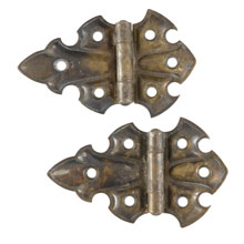 Pair of Brass-Plated Butterfly Hinges C1900