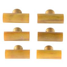 Superb Set of 6 Petite Butterscotch Bakelite Pulls c1920s