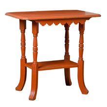 Brightly Painted Red Victorian Side Table c1880