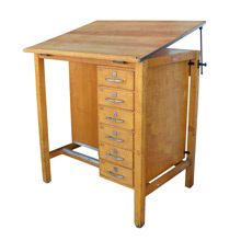Mid-Century Maple Drafting Desk by Hamilton c1950s