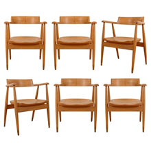 Set of 6 Maple Armchairs by Northwest Chair Co c1965