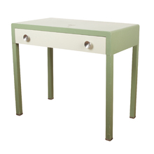 Mint Green Simmons Desk Bel Geddes Style c1935