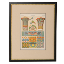 Framed Egyptian Architectural Chromolithograph c1895