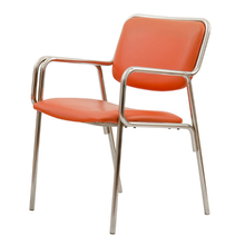 Modern Orange and Chrome Office Chair