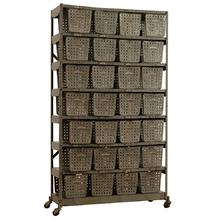 Large 28 Steel Locker Basket Unit c1945