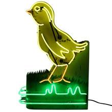 Petite Phenomenal Neon Chick Sign c1940