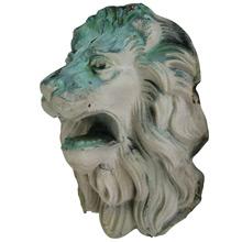 Copper Lion's Head Architectural Remnant C1910