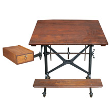 Incredible Keuffel & Esser Drafting Table W/ Swing Arm C1890