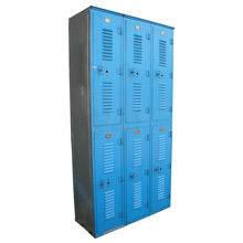 Bright Blue Locker Bay C1965