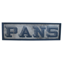 Rare Hand-Painted General Store Pans Sign C1880s