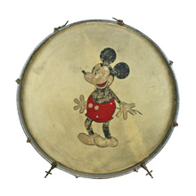 Mickey Mouse Themed Kick Drum C1930s