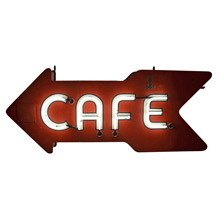 Mid-Century Double-Sided Neon Cafe Sign C1960