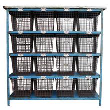 Gymnasium Locker Basket Unit by Medart C1965