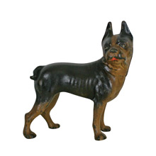 Cast Iron Boston Terrier Door Stop by Hubley Co C1910