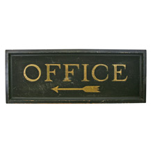 Beautiful Hand-Painted Office Sign C1915
