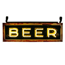 Double-Sided Neon Beer Sign C1945