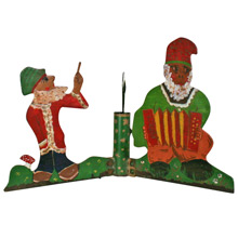 Hand Made Tree Stand W/ Trio of Gnomes C1935