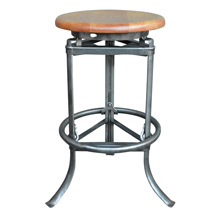 Industrial Rite-Hite Factory Stool w/ Tripod Base c1930