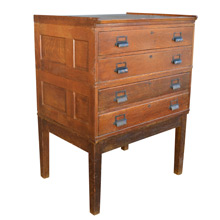 Yawman & Erbe 4-Drawer Oak Cabinet c1940