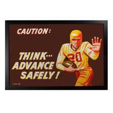 Framed Factory Poster Advance Safely c1956