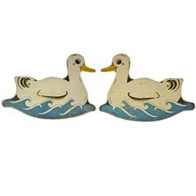 Pair of Hand Painted Carousel Ducks c1940's