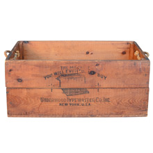 Underwood Typewriter Company Crate c1915