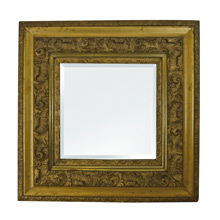Beveled Glass Mirror in Rococo Gilt Frame c1900
