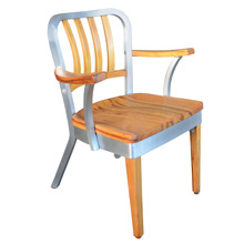Beautifully Restored Shaw Walker Maple and Aluminum Model 8320-WS Office Chair C1940