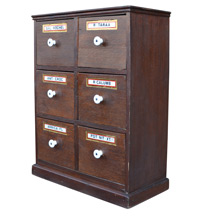 Well-Preserved Petite Apothecary Spice Cabinet c1900