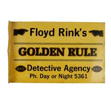 Fantastic Detective Agency Sign c1930